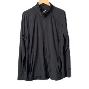 2/$15 Old navy Black Active Zip Gym Wear Top XXL